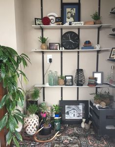 Mid century look alike Shelving, Bookcase, Mid Century, Home Decor, Homemade Home Decor, Shelves, Shelf, Open Shelving, Decoration Home