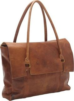Sharo Leather Bags Large Soft Leather Handbag Brown - via eBags.com!