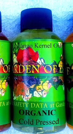 If you like Coconut Oil, you will LOVE Mango Oil. Its also edible, and also has 20 uses for skin, body, and hair. A unique compound in mangoes, called mangiferin, is useful for stretch marks, scar tissue, smoothing wrinkles, and treating sunburn, due to skin regeneration abilities, ORGANIC, COLD PRESSED, MANGO KERNEL OIL – extracted from mango kernels. ______________________________________________________ We offer 2 kinds of Organic Cold Pressed Mango Oil…