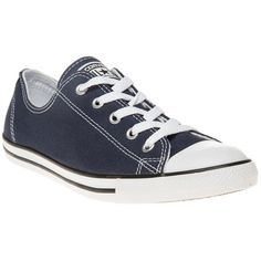 Womens navy Converse All Star Dainty Ox Trainers at Soletrader