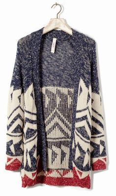 Adorable long cardigan for fall