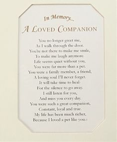 A Loved One Pet Loss Frame