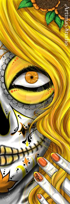 I want sugar skull tattoos Art And Illustration, Sugar Skull Art, Sugar Skulls, Day Of The Dead Skull, Candy Skulls, Tatoo Art, Skull Tattoos, Makeup Tattoos, Art Tattoos