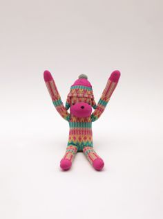 AYAME SOCK MONBEARAW13 OCTOPUS DOG-PINK   ayame