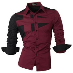 2017 Spring Autumn Features Shirts Men Casual Jeans Shirt New Arrival Long Sleeve Casual Slim Fit Male Shirts 8312 Slim Fit Dress Shirts, Slim Fit Dresses, Fitted Dress Shirts, Casual Jeans, Casual Shirts For Men, Casual Button Down Shirts, Men Casual, Men Shirts, Top Mode