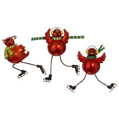 Skating Red Cardinal Ornaments  Price : $15.95 http://www.perfectlyfestive.com/RAZ-Imports-Skating-Cardinal-Ornaments/dp/B008SKS9D4