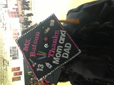 Graduation cap design I designed for myself, an education major. Decorated mortar board. All materials were purchased at AC Moore. #graduationcap  #graduation #mortrarboard