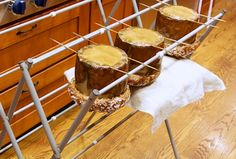 hanging panettone - so this is how you ensure it doesn't collapse?