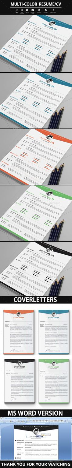 Clean Resume Template #editable #elegant #elegant resume - colorful resume template free download