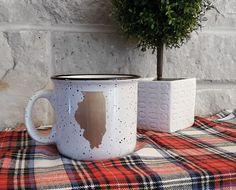 Illinois Campfire Ceramic Coffee Mug