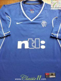 Relive Glasgow Rangers  1999 2000 season with this vintage Nike home football  shirt. 23e6e2592