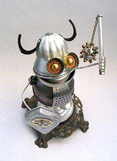 Alrik 494 - Found Object Robot Assemblage Sculpture by Brian Marshall by adopt-a-bot, via Flickr