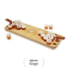 5 enjoyable board games for a night out with friends: Mini Beer Pong Holiday Drinks, Holiday Gifts, 21st Birthday Games, Birthday Cakes, Surprise Birthday, Mini Beer Pong, Gifts For Tech Lovers, Beer Gifts, Diy Gifts