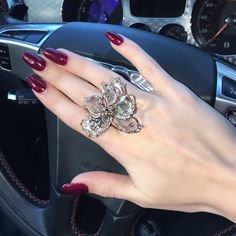 """Provident Jewelry on Instagram: """"Heading to charity event in Wellington with this beautiful floral and diamond cocktail ring! @providentjewelry @scottdiament #diamonds…"""""""