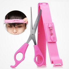 Hot Practical Convenient Home Women/Girls Hair Clip Bangs Cosmetic Scissors Haircut Beauty Tools DIY