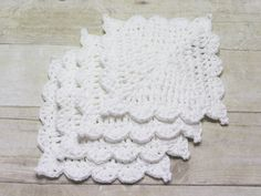 Crochet Dishcloth, White Cotton Washcloths ,Crochet Dishcloths, Cotton Crocheted Washcloth, Crocheted Dishcloths,Hostess Gift, Made to Order by CraftCreationsbyRose on Etsy