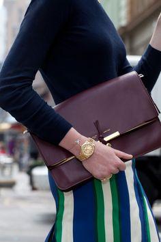 Jessica Sailer-Vogue, Celine clutch, vintage Rolex