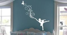 Dezign With a Z : Wall decals, wall stickers, murals, canvas & mirrors. Hundreds of original designs. Premium quality : removable and reusable wall art decals. Girl Bedroom Walls, Teen Girl Bedrooms, Little Girl Rooms, Teen Bedroom, Bedroom Ideas, Ballerina Bedroom, Kids Room Wall Stickers, Vinyl Wall Art, Room Themes