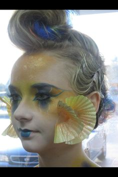 Inspired by mandarin goby - I like using the cupcake liners as gills!                                                                                                                                                                                 More