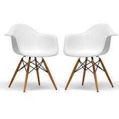 Retro-klasik beyaz sandalye çifti - BAXTON STUDIO   Hipnottis  Daha fazlası  http://www.hipnottis.com/ev-dekorasyon/baxton-studio-retro-klasik-beyaz-sandalye-cifti