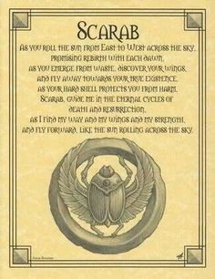 Egyptian Scarab Book of Shadows Page or Poster Wicca Pagan Witchcraft… Egyptian Scarab, Egyptian Tattoo, Egyptian Mythology, Egyptian Symbols, Egyptian Art, Ancient Symbols, Wiccan Spells, Magick, Wiccan Beliefs