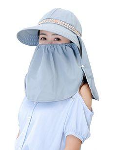 1aca16bbc6a Kaisifei Women s Visor Hat With Big Brim (light Grey) Kai... https