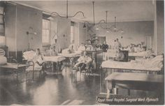 POSTCARD MILITARY PLYMOUTH Royal Naval Hospital Surgical ward Hospitals, Plymouth, Nurses, Military, Queen, History, Life, Historia, Being A Nurse