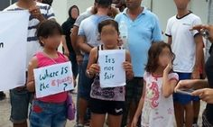 Families in the Nauru detention centre. The Moss review of safety in the detention centre raised allegations including child rape and the rape of two women.