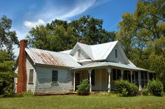 Benevolence GA Randolph County Folk Victorian Architecture White Clapboard House Picture Image Photo © Brian Brian Brown Vanishing South Georgia USA 2012