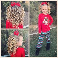 "Pajama day! And the last day of school!! Yea!! She said ""Mom, I kind of look like a Who"" and I think she's right! A very cute Who! ♥️♥️♥️ #tinzbobenz #toddlerhair #toddlerhairstyles #princesshair #adventbraiding2017 #holidaystyle #holidayhair #christmashair #pajamaday #christmaspjs #hairideas #hairinspo #hairstyle #hairstyles #hairforkids #kidsootd #kidshair #kidsstyle #kidsbraids #kidsfashion #curls #curlswithattitude #instahair #instakids #instabraid #instastyle #christmasparty"