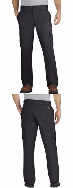 Pants and Shorts 163525: Dickies Wp595 Men S Black Flex Regular Fit Straight Leg Cargo Pant Workwear -> BUY IT NOW ONLY: $30.5 on eBay!