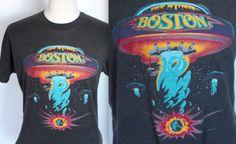 BOSTON Rock T Shirt // 1987 US TOUR // U F O by TrueValueVintage