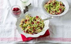 Add some colour to your table with a cranberry coleslaw.