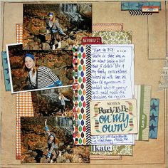 Scrapbook Layouts Made With a Rectangular Foundation on a Square Canvas | Katie Scott | Get It Scrapped