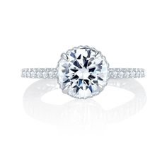 Alluring Hand Set Pave Diamond Halo Quilted Engagement Ring