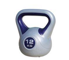 Kettlebell / Kugelhantel 12 kg Style aus robustem Hartkunststoff in grau mit blau - Megafitness-Shop  Für Details: http://www.megafitness-shop.info/Kraftsport/Hanteln-Gewichte/Kettlebells/PP-KB-Style-Kunststoff/Kettlebell-Style-12-kg--1979.html