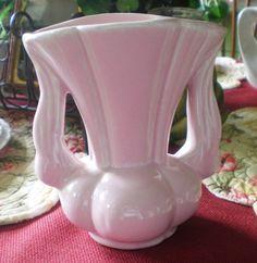 Antique Vintage Niloak Pottery Pink Vase 6 with by NeldaMaesCloset, $9.50