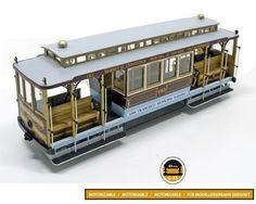 OcCre's impressive 1/24 scale San Francisco Cable car wood and metal model kit contains all the parts necessary for you to create an accurate replica. Laser cut wooden parts make up the body and interior. Fine African walnut strips cover the roof and platforms. Wheels, brakes, bumper supports and stops, headlight, leaf rings and steering wheels and other small parts are precision cast white metal. Photographic instructions make building easy. Only £76.95 from wwwalwayshobbies.com