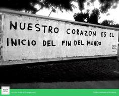 El inicio… #paredes #arte público #calle #rima #street art #poética #acción #acción poética #poesía #muros #amor