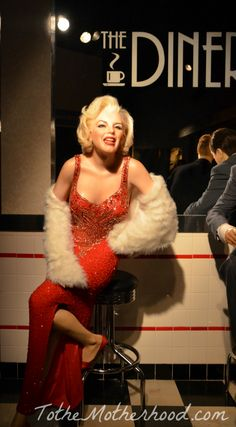 Marilyn Monroe Wax Figure at Hollywood Wax Museum in Branson, Missouri #Branson #MarilynMonroe