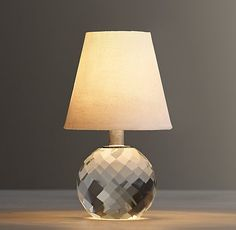 Mini Lourdes Crystal Ball Lamp - a little low-wattage, ambient glow for the bedroom dresser
