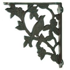 beautiful iron decorative bracket for making shelves, or a plant hanger. Decorative Shelf Brackets, Glass Shelf Brackets, Wood Shelves, Glass Shelves, Making Shelves, Cast Iron, It Cast, Shelf Holders, Industrial Hardware