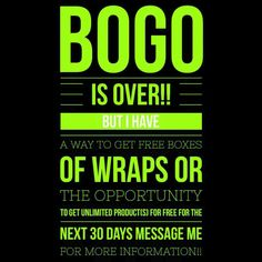 Did you miss out on the BOGO deal?? I have an amazing deal available for the next 3 people!!  Message me now!!