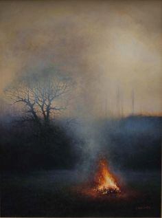 'Come Here, & Bring Your Broken Heart' is a new work by Andrew Crocker- we can't stop staring into that gorgeous fire