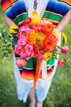 Technicolor Cinco de Mayo Wedding