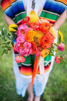 Technicolor Cinco de Mayo Wedding