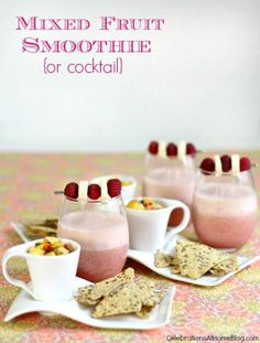 GIRLS NIGHT IN :: MIXED FRUIT SMOOTHIE COCKTAIL  #GirlsNightIn I'm pinning this for a sweeps ending 5/31. https://www.facebook.com/FoodieByGlam/app_281434995363979