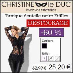 #missbonreduction; Déstockage : 60 % de remise sur la Tunique dentelle noire Fifilles De Paris chez Christineleduc. http://www.miss-bon-reduction.fr//details-bon-reduction-Christineleduc-i858720-c1832746.html