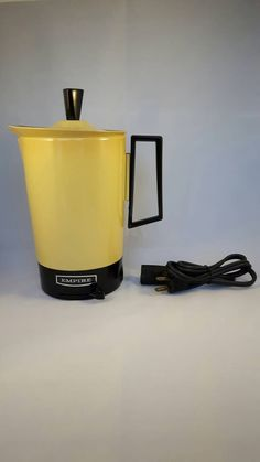 Vintage Empire yellow ombre retro electric kettle 6 cup hot water pot 1970s Made by Metal Ware Corp. Two Rivers, Wisconsin, USA by TheYoungAntiquers on Etsy