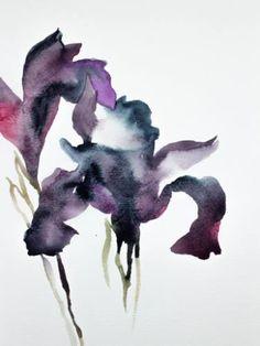"Saatchi Art Artist Elizabeth Becker; Painting, ""Two Irises"" #art"